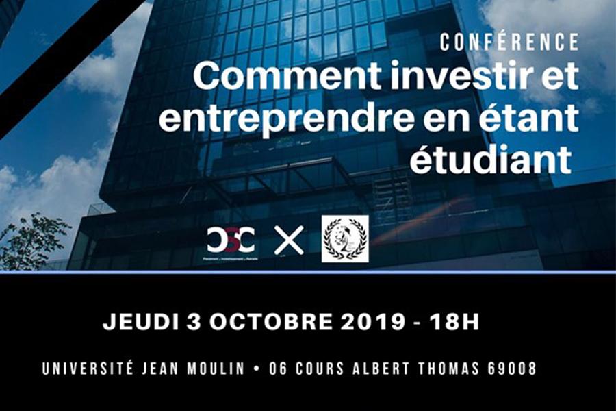 Investir et entreprendre durant ses études - Conférence Learn To Trade