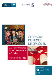 Remise diplômes Alternance 2015