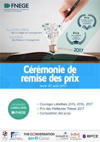 Cérémonie de remise des prix FNEGE 2017