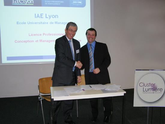 Partenartiat Cluster Lumière - IAE Lyon