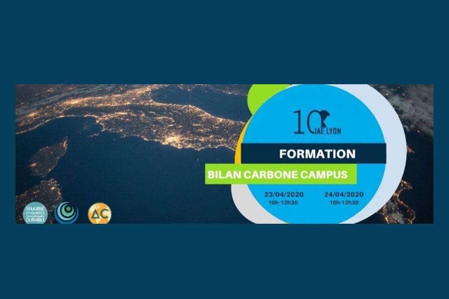 Formation Bilan Carbone Campus organisée par iaelyon Junior Conseil