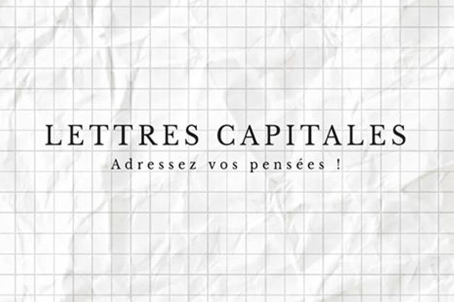 LETTRES CAPITALES - grande chaîne de lettres