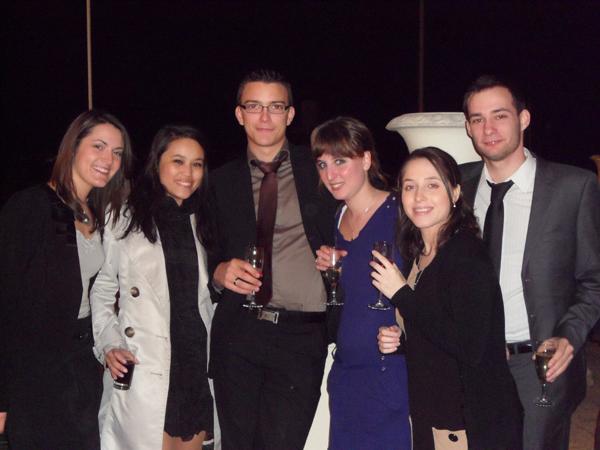 Deauville 2011, Concours de négociation. Les 6 etudiants du Master Vente