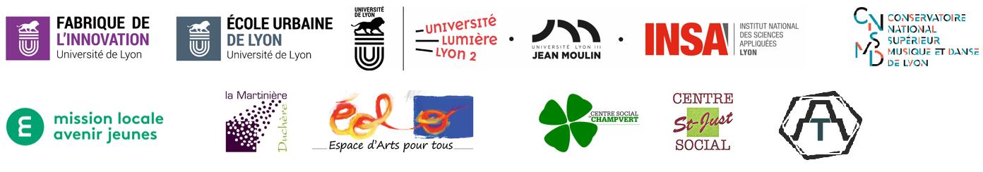 Logos des partenaires de la Fête des Lumières 2019