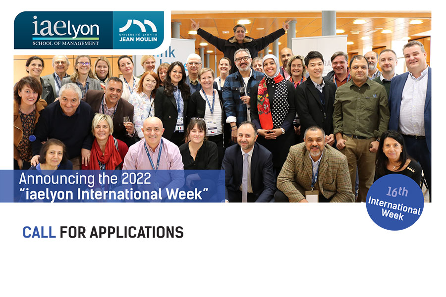 The iaelyon International Week 2022: call for applications