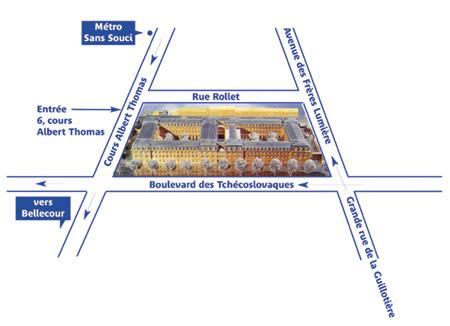 Plan d'accès IAE de Lyon
