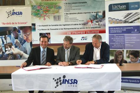 Signature du partenariat INSA de Lyon - IAE Lyon