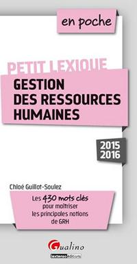 Petit Lexique de gestion des ressources humaines