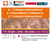 Colloque ISEOR - AOM 2016