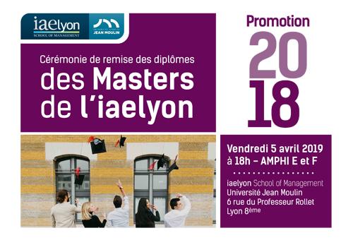 Remise de diplômes des Masters 2019 - Promotion Thierry BARRANDON