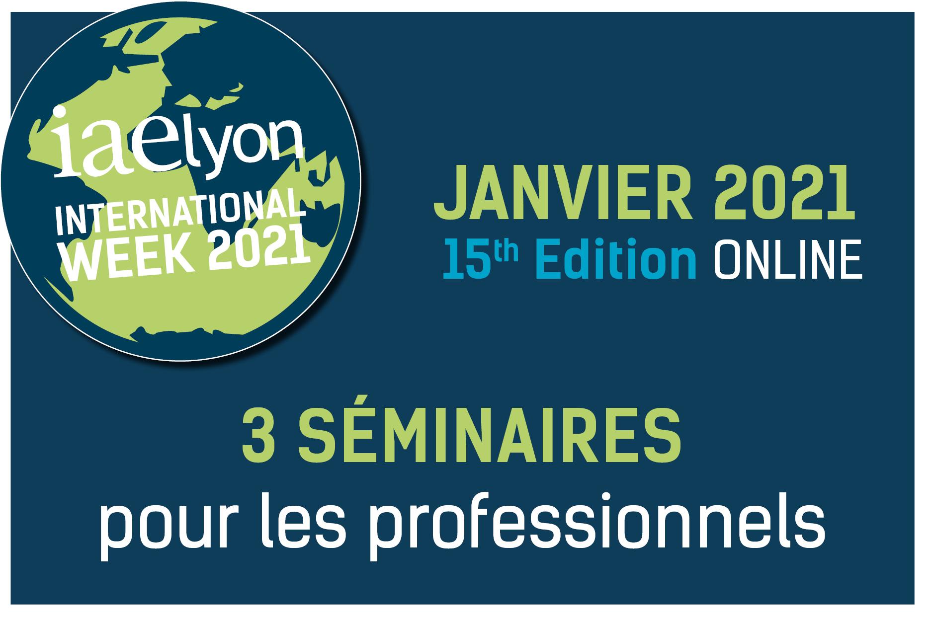 Management post-covid : 3 séminaires internationaux en anglais pour accompagner votre entreprise